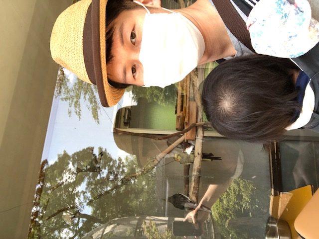 日曜日は、足羽山公園に行きました